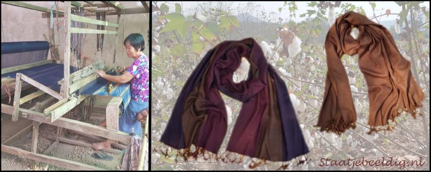handgeweven katoenen sjaals uit Thailand