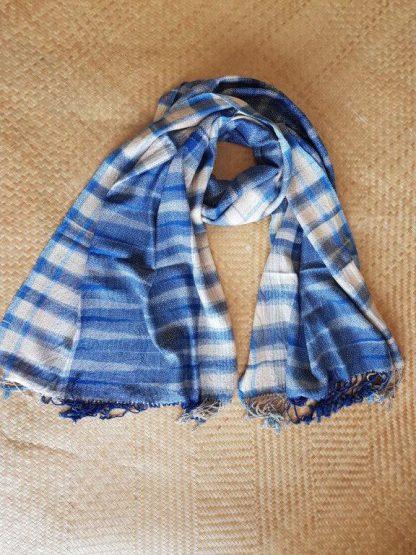 handgeweven katoenen sjaal uit Loei Thailand