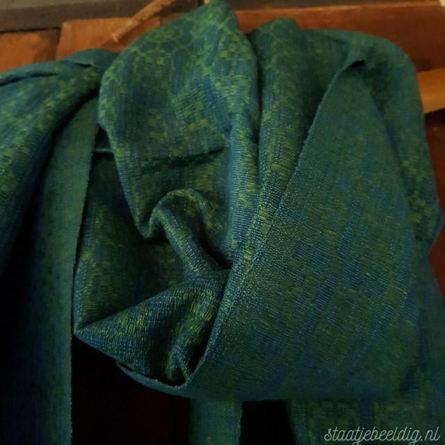 groenblauwe sjaal