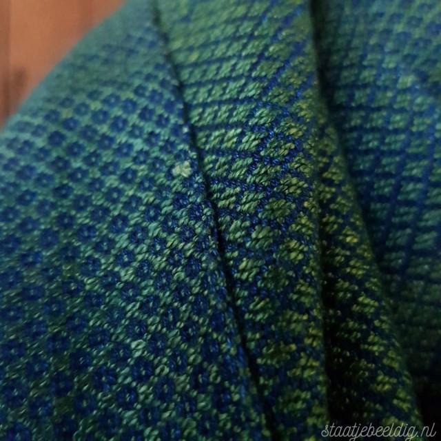 groen met blauwe sjaal