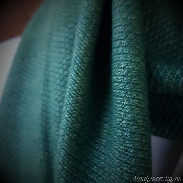 groene herfstsjaal